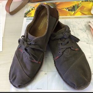 Toms Cordones Lace-up Khaki shoes